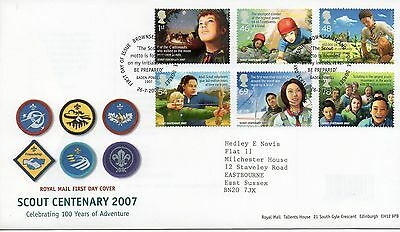 GB 2007 SCOUTS Stamps  FIRST DAY COVER Special BROWNSEA ISLAND Postmark Re:PP33