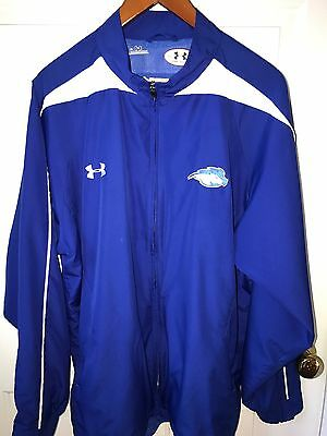 Hofstra University Logo Pride Under Armour UA Track Jacket XL #6 Royal Blue Nice