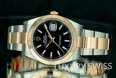 New Mens Rolex Datejust 41mm 126303 - Unworn with Box and Papers 18k Gold/Steel