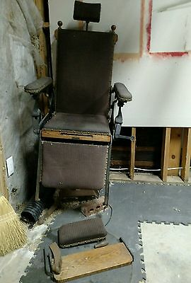 Antique Cast Iron Adjustable Doctors medical chair