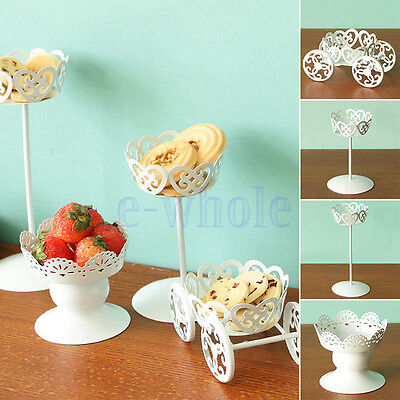 Vintage Metal Wedding Cupcake Stand Cake Dessert Holder Display Party Decor TW