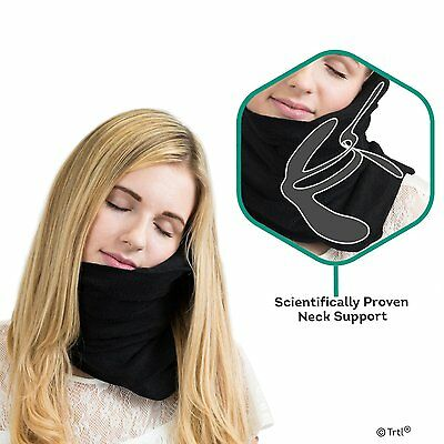 GENUINE TRTL Pillow Scientifically Proven Super Soft Neck Support for Flight  sw
