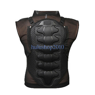 New Racing Motorcycle Body Armor Back Spine Chest Protective Jacket Black HQ
