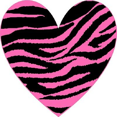 30 Custom Pink Zebra Heart Personalized Address Labels