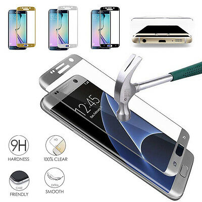 For Samsung Galaxy S6 S7 Edge Full 9H Tempered Glass LCD Screen Protector EV