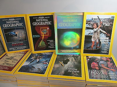 National Geographic Magazine set x 48 issues, 1986-1989 - complete run