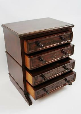 Good quality Victorian table top Walnut, collectors chest, jewellery chest VGC