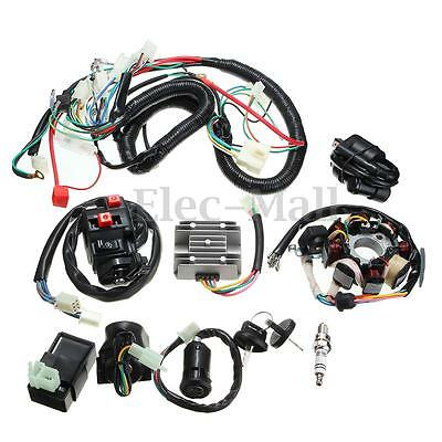 125 150 200 250CC Quad Electric CDI Coil Wire Harness Stator Assembly Wiring Set