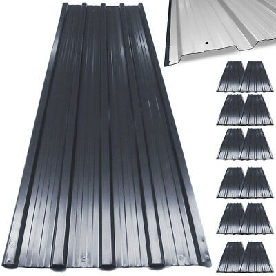 12x Metal Roof Sheets Corrugated Garage Shed Profile Galvanized Roofing 129x45cm