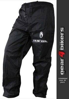 Richa Rain Warrior Black Water Proof Pant Over Jean All Weather Trouser Pants
