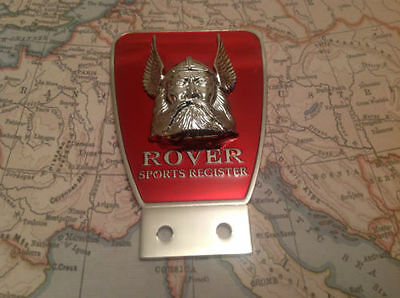 Rover Sports Register Owner Club Car Badge
