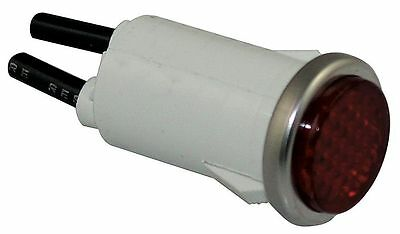 "Dayton Flush Indicator Light, LED Lamp Type, 120VAC/DC Voltage, 1/2"" Mounting"