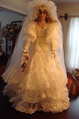 "Victorian Bride by Rustie  MONUMENTAL 42"" TALL, NIB ONLY 1000 MADE"