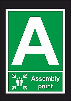 Assembly Point A Sign or Sticker, All Sizes. Fire / Emergency / Evacutation Sign