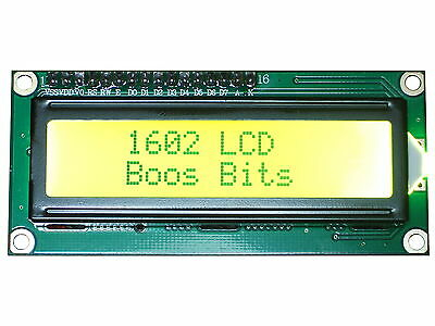 HD44780 Backlit 1602 LCD Display Screen in Yellow 16 x 2 16x2 162