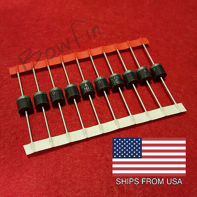 (10 Pack) 6A10 Diodes 6 amp 1000 volt - Quick and free shipping from USA!!!