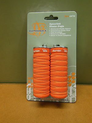 Diamondback Knurled Resin Pegs Orange
