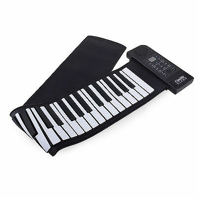 Piano Flexible Electronico Teclado De Estudio Enrollable 61 Teclas 128 Sonidos
