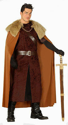 Mens Game of Thrones Costume Medieval Highlander Viking Fancy Dress Outfit NEW