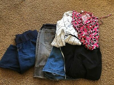 Modern Trendy Lot Of Maternity Clothes Six Pieces Size Large Dress Skirt Career