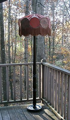 Antique Victorian Floor Lamp & Shade All Original Early 1900's