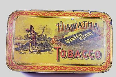Hiawatha Indian Warrior Tobacco Tin - Daniel Scotten & Co. Detroit, Mich. Manf.