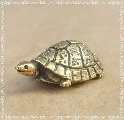 Lucky HOLY TURTLE Thai Brass Talisman Magic Amulet Health Long Live Power Luck