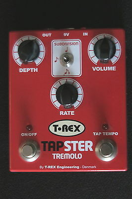 T Rex Tapster Tremelo Guitar  Effect Pedal Box An Awesome Classic Nm-Cond & Gwo