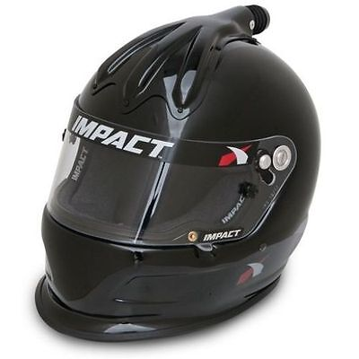 Impact Racing 17015510 Large Size Super Charger Helmet (Gloss Black)