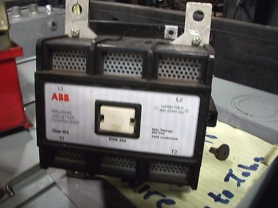 ABB EHW 250W Welding Isolation Contactor Size W5 600VAC MAX 350A  2P-*L