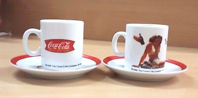 2 Pair Tea Glass Collectible Women White Red Cup Drinking Designs