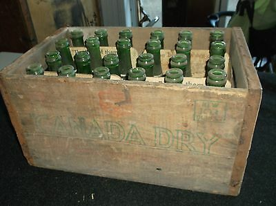Vintage Canada Dry Wood Crate With Bottles