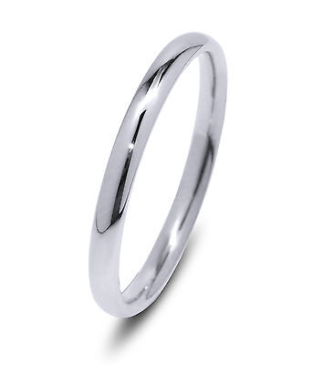 De Lelu Mens Womens 316L Stainless Steel Thin Wedding Ring Band 2MM
