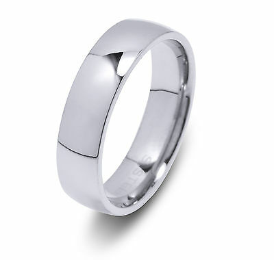 De Lelu Mens Womens 316L Stainless Steel Wedding Ring Band 5MM