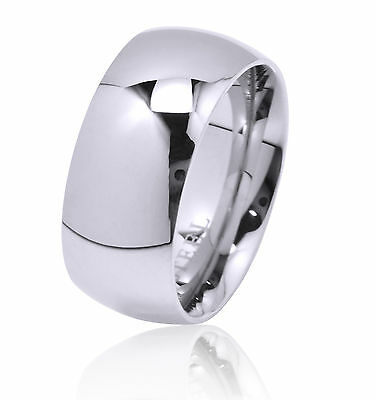 De Lelu Mens Womens 316L Stainless Steel Wedding Ring Band 9MM