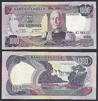 Angola P103***1000 Escudos***nd 24-11-72***xf***look Super Scan