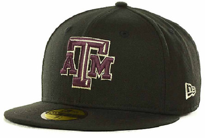 on sale f1c26 092dc TEXAS A M AGGIES NEW ERA 59Fifty Metallic NCAA Fitted Cap Hat Size 7 ...
