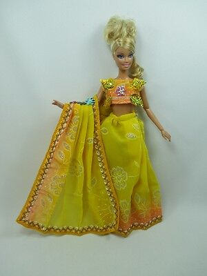 Handcrafted Barbie Outfit Traditional Indian Sari Dress # 10