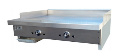 "NEW 24"" Thermostatic Gas Griddle Flat Top Grill Ideal IDGR-24T #5825 Commercial"