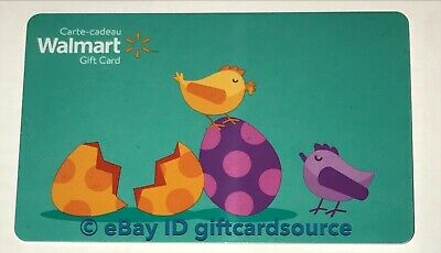 """Walmart Canada Gift Card """"bunny In Field"""" Easter Eggs No Value Collectible New"""