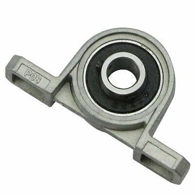 2PCS 8mm Bore Inner Ball Mounted Pillow Block Insert Bearing KP08 Support Gray