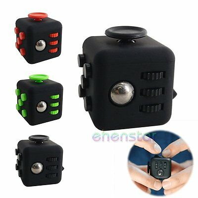 Adults Kids Fun Anxiety Gift 6-side Fidget Cube Dice Stress Relief Focus Toy