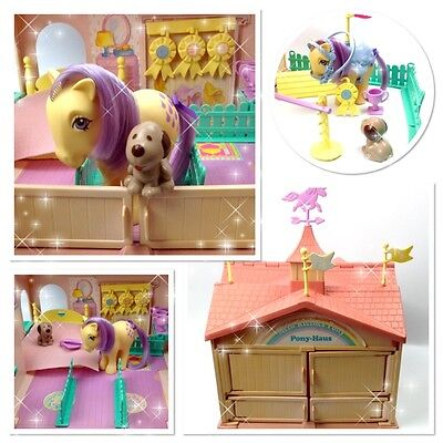 ⭐️ My Little Pony ⭐️ G1 Euro Pink German Show Stable Playset Near Complete!