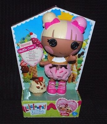 Lalaloopsy Littles Little Sister Doll called Spoons Waffle Cone BNIB