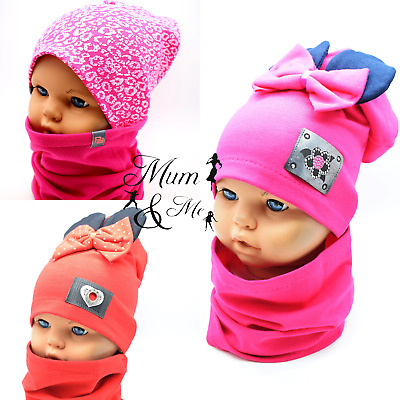 Girls Hat and Scarf Toddler Baby Sets Hat with Scarf Double Single Layered