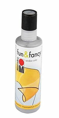Marabu Window Color fun & fancy Fenstermalfarbe 80ml Konturen silber abziehbar