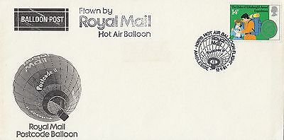 (97704) GB Cover Hot Air Postcode Balloon Flight NWPB Ambleside 12 Sept 1981