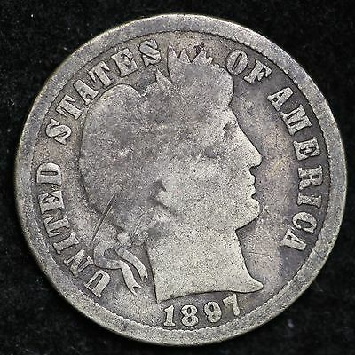 1897-O Barber Dime CHOICE G FREE SHIPPING E169 HN
