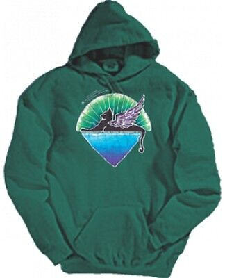 Grateful Dead Winged Cat Hoodie LICENSED Jerry Garcia