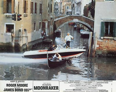 James Bond 007 Roger Moore Michael Lonsdale Moonraker 1979 4 Lobby Cards Lot